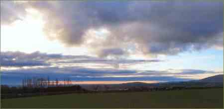 View to the Cheshire hills from my bike near Penyffordd