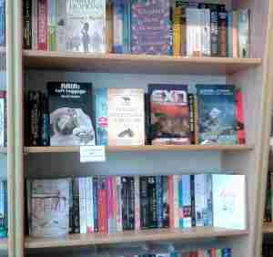 My books on the shelves at Urmston Bookshop
