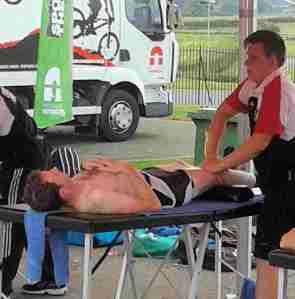 Rob's sports massage.